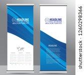roll up business brochure flyer ... | Shutterstock .eps vector #1260298366