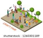 seasonal outdoor craft fair... | Shutterstock .eps vector #1260301189
