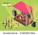 outdoor music concert isometric ... | Shutterstock .eps vector #1260301366