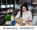 asian girl is freelancer woman  ... | Shutterstock . vector #1260308470