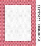 gingham check frame with polka... | Shutterstock .eps vector #126031553