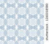 seamless floral and geometric... | Shutterstock .eps vector #1260318580