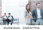 business people standing in the ... | Shutterstock . vector #1260327916