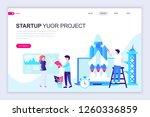 modern flat web page design... | Shutterstock .eps vector #1260336859