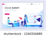 modern flat web page design... | Shutterstock .eps vector #1260336880
