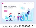 modern flat web page design... | Shutterstock .eps vector #1260336913