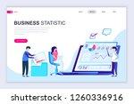 modern flat web page design... | Shutterstock .eps vector #1260336916