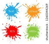 color splashes set.abstract... | Shutterstock .eps vector #1260344269