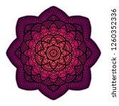 gradient mandala. circle ethnic ... | Shutterstock .eps vector #1260352336