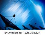 satellite dish transmission... | Shutterstock . vector #126035324