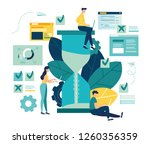 vector illustration  hourglass... | Shutterstock .eps vector #1260356359