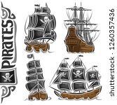 vector set of variety pirate... | Shutterstock .eps vector #1260357436