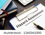 hazard assessment form with... | Shutterstock . vector #1260361000