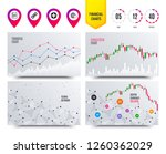 financial planning charts. plus ... | Shutterstock .eps vector #1260362029