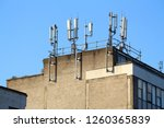 mobile phone transmitters on a... | Shutterstock . vector #1260365839