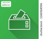 election voter box icon in flat ... | Shutterstock .eps vector #1260368506