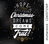 merry christmas. typography.... | Shutterstock .eps vector #1260371569