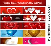 valentine's day colorful shiny... | Shutterstock .eps vector #126037259