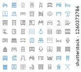 furniture icons set. collection ... | Shutterstock .eps vector #1260373786