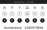 windmill icons set. collection... | Shutterstock .eps vector #1260373846