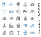 passenger icons set. collection ... | Shutterstock .eps vector #1260373873