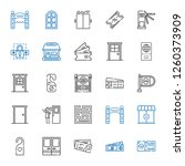 entrance icons set. collection... | Shutterstock .eps vector #1260373909
