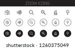 zoom icons set. collection of... | Shutterstock .eps vector #1260375049