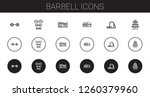 barbell icons set. collection...   Shutterstock .eps vector #1260379960