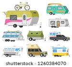 a set of trailers or family rv... | Shutterstock .eps vector #1260384070