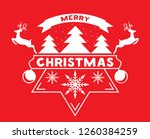 merry chrismas greeting card... | Shutterstock .eps vector #1260384259