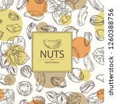 background with nuts  pistachio ... | Shutterstock .eps vector #1260388756