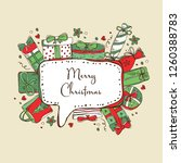christmas and new yea... | Shutterstock .eps vector #1260388783