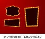 vintage 3d light retro frames.  ... | Shutterstock . vector #1260390160