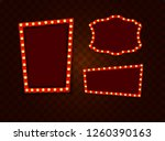 vintage 3d light retro frames.  ... | Shutterstock . vector #1260390163