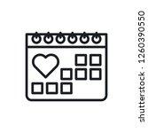 medical calendar vector icon | Shutterstock .eps vector #1260390550