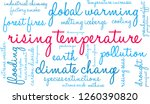rising temperature word cloud... | Shutterstock .eps vector #1260390820