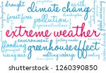 extreme weather word cloud on a ... | Shutterstock .eps vector #1260390850