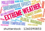 extreme weather word cloud on a ... | Shutterstock .eps vector #1260390853