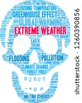 extreme weather word cloud on a ... | Shutterstock .eps vector #1260390856