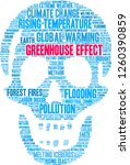 greenhouse effect word cloud on ... | Shutterstock .eps vector #1260390859