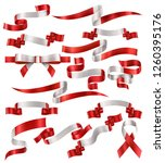 set of canadian flag ribbons ... | Shutterstock .eps vector #1260395176