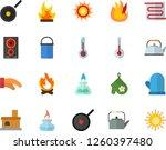 color flat icon set warm floor... | Shutterstock .eps vector #1260397480