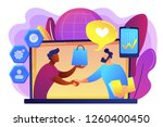 manager shakes hands with... | Shutterstock .eps vector #1260400450
