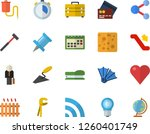 color flat icon set trowel flat ... | Shutterstock .eps vector #1260401749