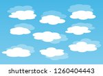 blue sky with clouds. can be... | Shutterstock .eps vector #1260404443