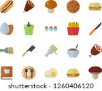 color flat icon set knives flat ... | Shutterstock .eps vector #1260406120
