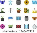 color flat icon set window flat ... | Shutterstock .eps vector #1260407419
