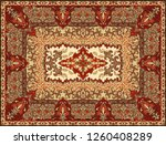 persian carpet texture.... | Shutterstock .eps vector #1260408289