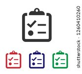 clipboard icon.to do list... | Shutterstock .eps vector #1260410260