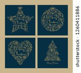 collection of christmas and new ... | Shutterstock .eps vector #1260411886